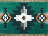 Native American Print area Rugs southwest Native American area Rug Design C318 Hunter Green