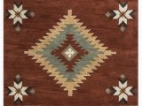Native American Style area Rugs Eastman southwestern Handmade Tufted Wool Rust area Rug