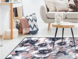 Navy and Blush area Rug Washable Rug Cover & Pad buttercup Blush Rug