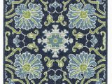 Navy and Green area Rug Kaleen Sunice Sun 02 area Rugs