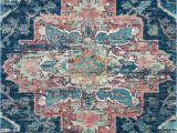Navy and Pink area Rug Nourison Fusion Fss13 Navy Pink area Rug