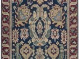 Navy and Rust area Rugs Cullen Hand Woven Navy Rust area Rug