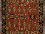 Navy and Rust area Rugs Doreen southwestern Hand Knotted Wool Rust Navy area Rug