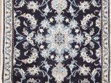 Navy Blue 3×5 Rug Navy Blue Floral Nain Persian area Rug 3×5