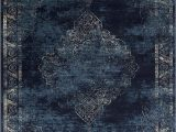 Navy Blue Abstract Rug Navy Blue Light Blue Beige oriental Distressed – Modern