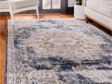 Navy Blue and Beige area Rugs Unique Loom Chateau Distressed Vintage Traditional Textured area Rug 4 0 X 6 0 Beige Navy Blue