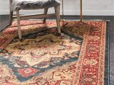 Navy Blue and Brown area Rug Mattea Persian Inspired Navy Blue area Rug
