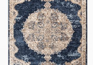 "Navy Blue and Brown area Rug Romance Collection Rugs Navy Blue Brown Multi Colored Traditional oriental Design Premium soft area Rug 5 1"" X 7 2"" Rug Size"