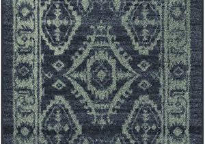 Navy Blue and Gray Runner Rug Maples Rugs Georgina Traditional Runner Rug Non Slip Hallway Entry Carpet Made In Usa 2 X 6 Navy Blue Green