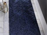 Navy Blue and Gray Runner Rug Navy Blue 2 X 6 7 Trellis Shag Runner Rug Irugs Uk