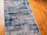 Navy Blue and Gray Runner Rug Unique Loom Mystic Collection Abstract Vintage Navy Blue Runner Rug 2 0 X 6 0