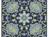 Navy Blue and Lime Green Rug Kaleen Sunice Sun 02 area Rugs
