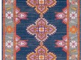 Navy Blue and Pink area Rug My Friday Find Caitlin Wilson Rug Look Alike