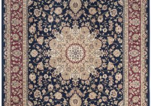 Navy Blue and Red area Rugs Safavieh atlas atl668b Navy Red area Rug