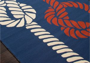 Navy Blue and Red area Rugs Sea Knotty Navy Blue Red and White area Rug