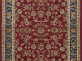 Navy Blue and Red Rug Clarence oriental Red Navy Blue Rug