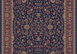 Navy Blue and Red Rug Jewel 4064 Kashan Navy area Rug by Concord Global Trading