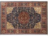 Navy Blue and Red Rug One Of A Kind Super Fine Hand Knotted Navy Blue Red 83 X 116 Wool area Rug