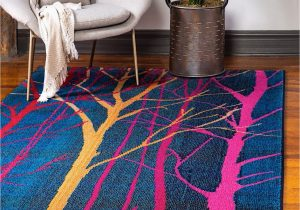 Navy Blue and Red Rug Shirey Geometric Navy Blue Gold Red Rug