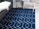 "Navy Blue and Silver Rug Navy Blue Silver 9 X 12 Marilyn Monroea""¢ Glam Trellis Rug"