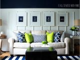 Navy Blue and White Striped Rug the Fence It All Started with Paint