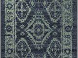 Navy Blue Bathroom Rug Runner Maples Rugs Georgina Traditional Runner Rug Non Slip Hallway Entry Carpet [made In Usa] 2 X 6 Navy Blue Green