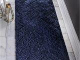 Navy Blue Bathroom Rug Runner Navy Blue 2 7 X 10 Lattice Shag Runner Rug