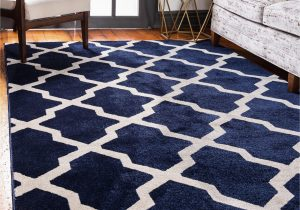 Navy Blue Bedroom Rugs Navy Blue 7 X 10 Lattice Rug area Rugs Rugs