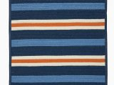 Navy Blue Braided Rugs Painter Stripe Set Sail Blue Outdoor Braided Rectangular Rugs