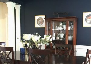 Navy Blue Dining Room Rug Dark and Moody Navy Blue Dining Room Reveal Dining Room