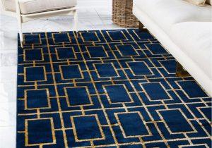 "Navy Blue Dining Room Rug Navy Blue Gold 4 X 6 Marilyn Monroea""¢ Glam Deco Rug Rugs Com"