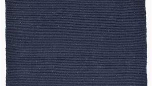 Navy Blue Flat Weave Rug solid Navy Blue Flatweave Eco Cotton Rug Hook & Loom