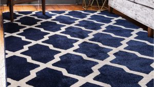 Navy Blue Floor Rugs Navy Blue 5 X 8 Lattice Rug