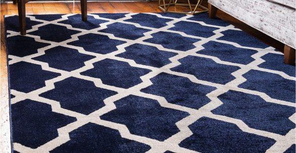 Navy Blue Floor Rugs Navy Blue 5 X 8 Lattice Rug