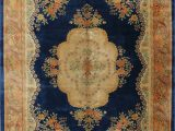 Navy Blue Floral area Rug Navy Blue Floral Art Deco Chinese oriental Hand Knotted 9×12 Wool area Rug