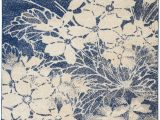 Navy Blue Floral area Rug Nourison Tranquil Tra08 Navy Blue and Grey Ombre Floral area Rug nor Tra08 Beige Navy