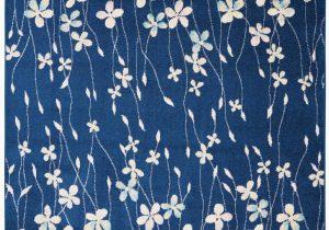 Navy Blue Floral Rug Floral Navy Blue Ivory White area Rug