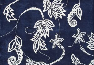 Navy Blue Floral Rug Modern Loom Blue Floral Rug 5 From the Botanical Rugs