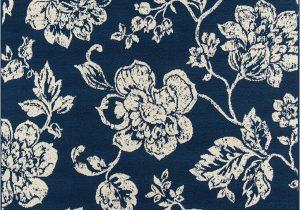 Navy Blue Floral Rug Momeni Baja Baj 18 Floral Blooms Navy area Rug