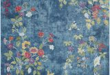 Navy Blue Floral Rug Surya Aura Silk ask 2334 area Rugs