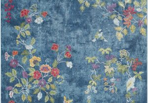 Navy Blue Floral Rug Surya Aura Silk ask 2334 area Rugs