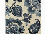 Navy Blue Floral Rug Walthery Navy Blue Beige area Rug Floral Rug Mohawk Home