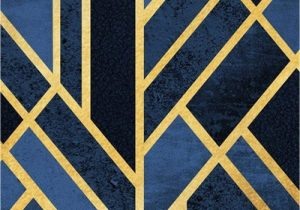 Navy Blue Geometric Rug Cmwardrobe Rugs Modern Carpet Traditional for Living Room Bedroom Traditional Geometric Art Navy Blue Black Gold soft touch Non Slip Xxl Extra Large