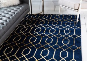 Navy Blue Geometric Rug Navy Blue Gold Marilyn Monroe 2 X 3 Marilyn Monroe™ Glam