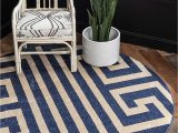 Navy Blue Geometric Rug Unique Loom athens Collection Geometric Casual Modern Border Navy Blue Round Rug 8 0 X 8 0