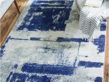 Navy Blue Grey and White area Rug Madill Navy Blue area Rug