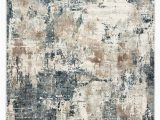 Navy Blue Grey and White area Rug Sisario Abstract Blue & Gray area Rug