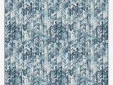 Navy Blue Herringbone Rug Watercolor Herringbone Blue Rug In 2020