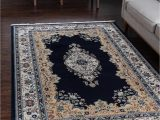 Navy Blue Large area Rug Rabia Navy Blue 10×13 area Rug In 2020