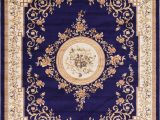 Navy Blue Patterned area Rug Navy Blue 9 X 12 Classic Aubusson Rug